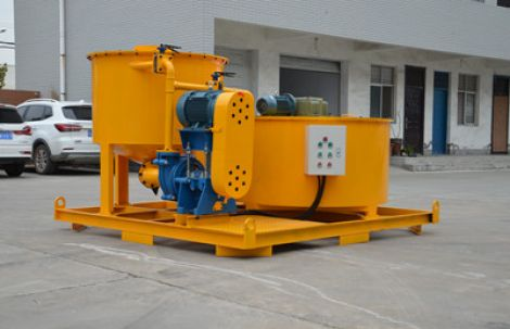 Grout mixing machine for consolidation grouting in dams